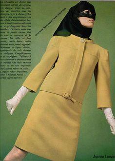 #LANVIN#vsixtiesintage#yellow#suit#