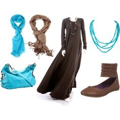 """baby blue abaya"" by fashion4arab on Polyvore"