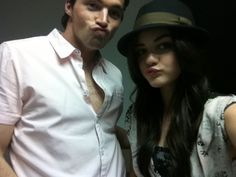 Ian Harding and Lucy Hale...definitely some beautiful people!!!