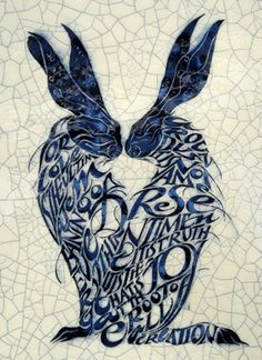 """Two Hares """"For love is the ultimate meaning of everything around us. It is not a mere sentiment; it is truth; it is joy that is at the root of all creation"""" - Iris Milward"""