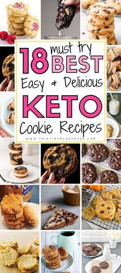 Make living a Keto lifestyle a breeze with these foolproof guilt free easy and delicious keto cookie recipes Low Carb Desserts, Low Carb Recipes, Healthy Recipes, Low Carb Lunch, Low Carb Keto, Cream Cheese Keto Recipes, Ground Beef Keto Recipes, Keto Dessert Easy, Coconut Recipes