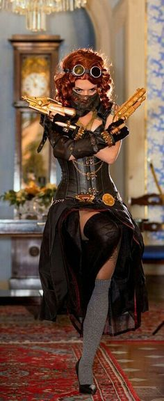 Steampunk Black Widow 1/3 If i cosplay for comic con this year, I want to do this - COSPLAY IS BAEEE!!! Tap the pin now to grab yourself some BAE Cosplay leggings and shirts! From super hero fitness leggings, super hero fitness shirts, and so much more th #SteampunkWhatisthat?