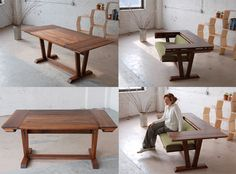 """EcoSystems Furniture convertible bench/table. Why does all the furniture I adore have """"call for pricing"""" listed on their sites?"""