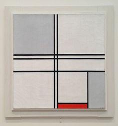 Piet Mondrian . Composition (No. 1) Grey-Red, 1935, Oil on canvas Piet Mondrian, Bauhaus, Theo Van Doesburg, Tableaux Vivants, Constructivism, Dutch Painters, Dutch Artists, Art Moderne, Art Abstrait