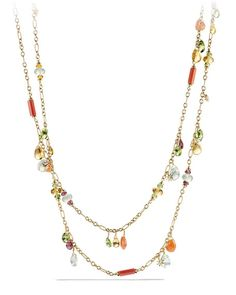 """Bead Collection Briola 18k Dangle Necklace, 36"""" by David Yurman at Neiman Marcus"""