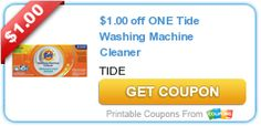 $1.00 off ONE Tide Washing Machine Cleaner #coupon