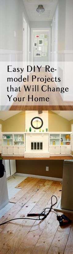 Easy DIY Remodel Projects that Will Change Your Home. DIY home projects. home décor. home. dream home. home improvement. inexpensive home improvement. cheap home DIY. Home Upgrades, Home Improvement Projects, Home Projects, Home Renovation, Home Remodeling, Cheap Home Decor, Diy Home Decor, Decor Crafts, Diy Casa