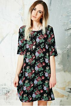 Pins & Needles Floral Dress in Black