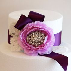 Lavender and Purple Wedding Cake Decorations Purple by GlamourWed, $39.50
