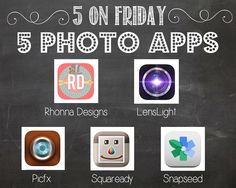Got a new iPhone or just looking to jazz up your pictures with your old phone? Check out these 5 photo apps to take your phone pics from good to great!