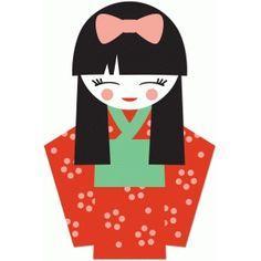 kokeshi dolls clipart japanese dolls clip art japan kawaii rh pinterest com japanese clipart website japanese clip art color book