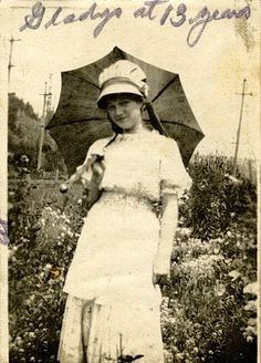 Marilyn Monroe's mother, Gladys, aged 13.