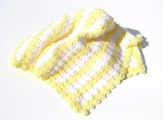 Yellow Baby Blanket/Striped by CraftCreationsbyRose on Etsy