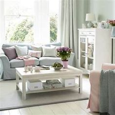 Information About Living Room Decoration for Modern Shabby Chic Living Room Ideas, you can see Modern Shabby Chic Living Room Ideas and more pictures for All Information About Home And Interior With Pictures 3140 at Living Room Decoration. Pastel Living Room, Shabby Chic Living Room, Shabby Chic Homes, Shabby Chic Furniture, Home Living Room, Living Room Decor, White Furniture, Cottage Living, Duck Egg Blue Living Room