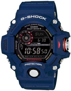 G-Shock Master of G Rangeman / G-Shock Blue Extreme Outdoor Watch for men Casio G Shock Watches, Sport Watches, Cool Watches, Watches For Men, Wrist Watches, Men's Watches, Casual Watches, Casio G-shock, Casio Watch