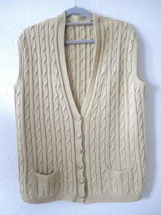 Pullover & Pullunder - Herren - Weste, handgestrickt, blass maisgelb - ein Designerstück von Na-nett-e bei DaWanda