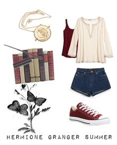 Hermione Granger outfit for Summer by evapritchard on Polyvore featuring polyvore, fashion, style, Calypso St. Barth, American Eagle Outfitters, Zara, Converse, women's clothing, women's fashion, women, female, woman, misses and juniors