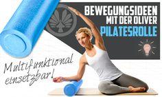 Übungen mit der Pilates Rolle sind nicht nur für das traditionelle Pilates Workout geeignet. Stattdessen kannst du diese in jede Kräftigungsstunde (Bauch Beine Po, Wirbelsäulengymnastik und auch B...