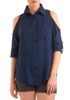 open shoulder button up, $42.99 via Modcloth, open-shoulder