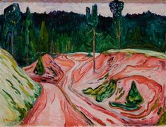 The Thuringian Forest - Edvard Munch als Kunstdruck oder handgemaltes Gemälde. Edvard Munch, Paul Gauguin, Dallas Museums, Post Impressionism, Oil Painting Reproductions, Still Life Photography, Famous Artists, Oslo, Art Museum