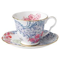 Wedgwood Peony Cup & Saucer Set