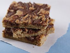 Easy Choc. Chip Bars  seriously easy- made these last night, if you're ever in the mood for a homemade cookie but don't want to spend hours baking them- try these bars. So yummy!
