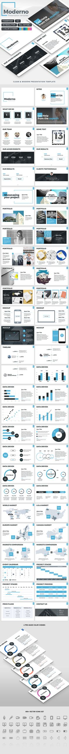 Moderno - PowerPoint Presentation Template. Download here: https://graphicriver.net/item/moderno-powerpoint-presentation-template/17122799?ref=ksioks