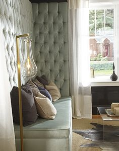 Tufted banquette by lisa sherry interieurs inc.