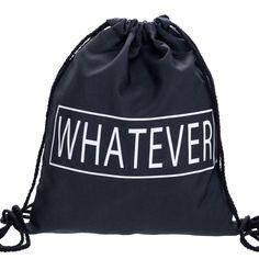 $4.19 (Buy here: https://alitems.com/g/1e8d114494ebda23ff8b16525dc3e8/?i=5&ulp=https%3A%2F%2Fwww.aliexpress.com%2Fitem%2FWhatever-black-Backpack-Drawstring-Bag-3D-Print-Bags-For-Gril-Women-Backpacks-Mochila-Feminina-Harajuku-Patchwork%2F32664779142.html ) Whatever black Backpack Drawstring Bag 3D Print Bags For Girl Women Backpacks Mochila Feminina Harajuku Patchwork Softback BP023 for just $4.19