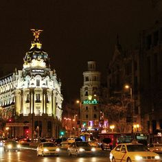 #Madrid by night #Spain #España #Europe | Photo by @socialnomads