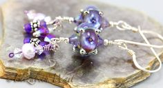 Sparkling+Lilac+Handmade+Artisan+betsybeads+Lampwork+by+betsymn,+$22.00