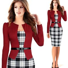 De manga larga media manga de moda para mujer de negocios