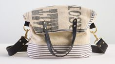 Elke Bergeron shows you how to design and sew a versatile vintage-style tote, which can be worn off the shoulder or as a cross body bag. You will learn how to work with feedsack fabric, add a touch of canvas ticking for reinforcement, sew together a linen lining, and create leather straps. Add brass...