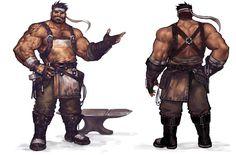blacksmith, jang ju hyeon on ArtStation at… Fantasy Character Design, Character Creation, Character Concept, Character Inspiration, Character Art, Fantasy Art Men, Fantasy Warrior, Fantasy Rpg, Dnd Characters