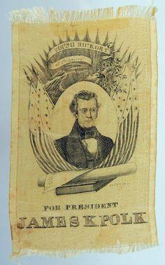James K. Polk ribbon, 1844