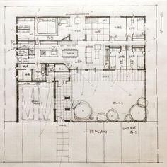 いいね!1,621件、コメント17件 ― 石川 元洋/一級建築士、インテリアコーディネーターさん(@motohiro_ishikawa)のInstagramアカウント: 「・ 65坪5人家族の平家 ・ キッチンに立つ奥様が全てを見渡せるように ・…」