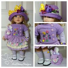 Spring / Easter outfit clothes for 18 inch doll american girl doll handmade FREE GIFT by AvaDeenaDesigns on Etsy