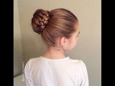 How to do a braided bun? (Miten tehdään lettinuttura?) - YouTube