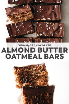 Healthy Vegan Snacks, Yummy Snacks, Healthy Desserts, Dessert Recipes, Vegan Sweets, Paleo, Vegan Bar, Oatmeal Bars, Vegan Baking