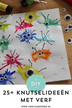Knutselen met verf - 25+ Leuke activiteiten en ideeën voor kinderen Projects For Kids, Diy For Kids, Art Projects, Crafts For Kids, Dot Painting, Painting For Kids, Weaving For Kids, Diy And Crafts, Arts And Crafts