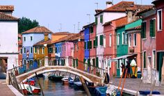 Best small towns to visit in Italy - Burano - Burano is an island in the Venetian Lagoon, in Veneto, northern Italy. It is known for its lacework and brightly coloured homes. These colors follow a specific system that originates from the golden age of its development: if someone wants to paint their home, one must send a request to the government to have the permission.