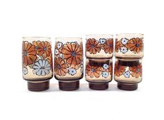 Vintage Libbey Tawny Camellia Glassware Set / by GumdropVintage