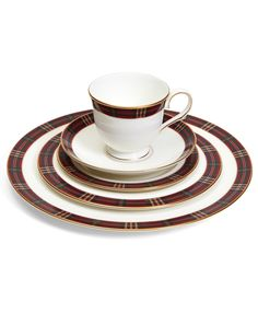 This exclusive collection of fine bone china featuring Brooks Brothers Signature Tartan pattern is proudly made by Lenox in the USA. United by a reverence for quality and craftsmanship, Brooks Brothers and Lenox developed this festive collection for those who appreciate the art of entertaining and enjoy memorable times spent with friends and family. This white bone china is still made with the same craftsmanship created by Walter Scott Lenox in 1889 using the finest materials from England…