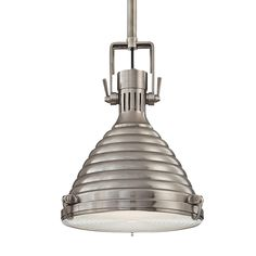 Buy Naugatuck 1 Light Pendant by Hudson Valley Lighting - Made-to-Order designer Pendants from Dering Hall's collection of Industrial Lighting.
