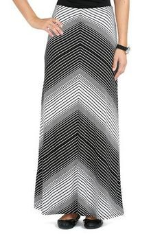 582ef6be5f9 Cato Fashions Arrow Stripe Maxi Skirt - Plus