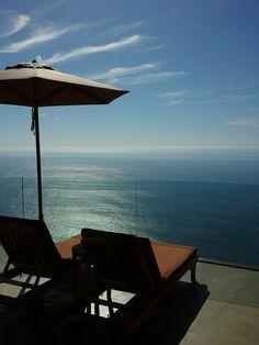Romantic balcony view at Post Ranch Inn.... Big Sur, CA