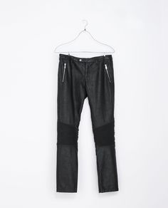 Image 6 of FAUX LEATHER BIKER TROUSERS from Zara
