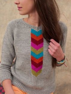 I'd have to echo those chevrons on the back otherwise i'd die of boredom knitting it, but this is cute!