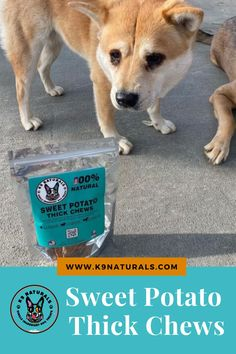 All Ages Friendly - They treats are enjoyed by our months old Husky pup and by our full grown GSD's, they are all obsessed. Can also be used as training treats by cutting or breaking into smaller units. 100% Natural - Our treats are all natural and are packed with vitamins and nutrients you. SHOP NOW! #dogtreats #sweetpotato #dogfood Sweet Potato Dog Chews, Husky Puppy, Doge, Dog Love, Dog Food Recipes, Potatoes, Vitamins, Training, Shop