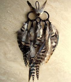 Hey, I found this really awesome Etsy listing at https://www.etsy.com/listing/128536654/owl-dream-catcher-brown-black-and-white